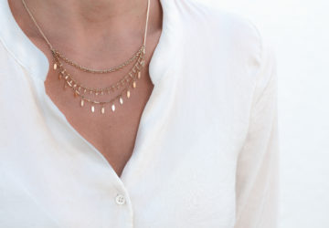 stacked necklace