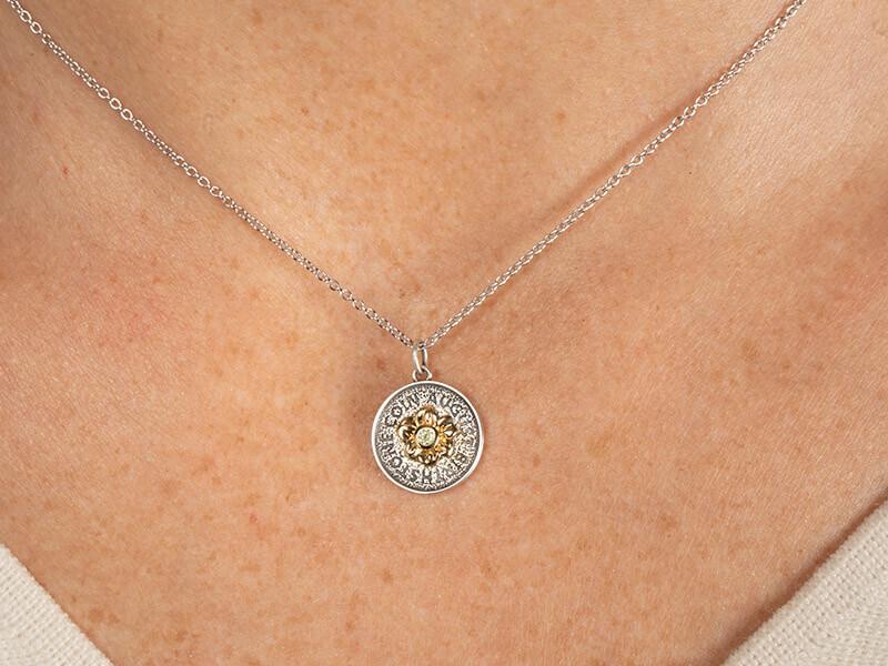 birthstone necklace august