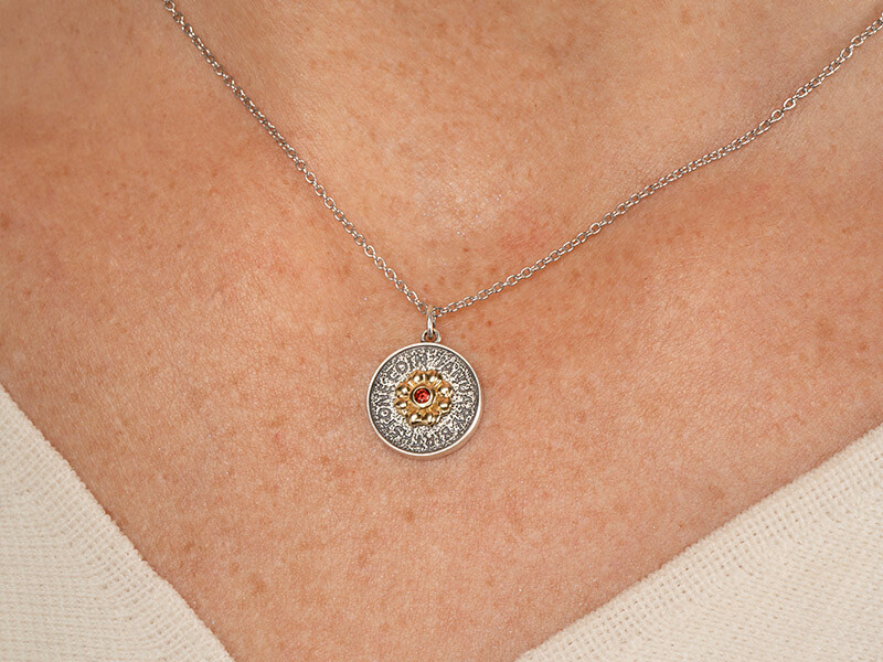 birthstone necklace january