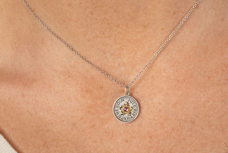 birthstone necklace july